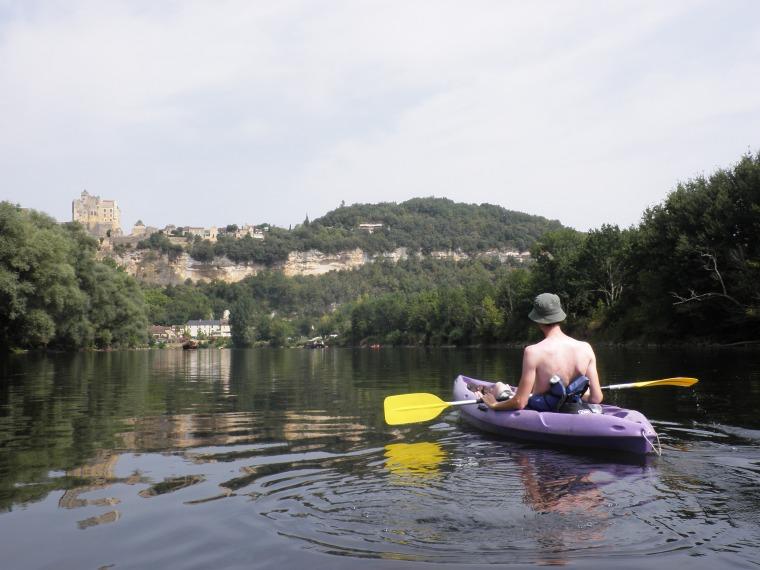Lennart on his kayak